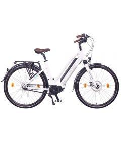 """Milano MAX N8R Bicicleta eléctrica Unisex, Bicicleta de Trekking, 250W Motor Central, Batería 36V 16Ah 576Wh-White-28"""""""
