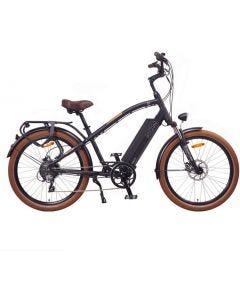 """Miami 26"""" Bicicleta eléctrica Cruiser Retro E-Bike 48V Batería 16Ah 768Wh Negro"""
