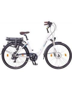 "NCM Munich Bicicleta eléctrica Urbana, Bici de Paseo, 250W, Batería 36V 13Ah 468Wh-28""-White"