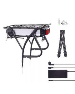 """E-Bike,Pedelec, Kit de Batería 48V 13Ah 624 Wh,26""""-28"""" Kit de Conversión +Porta Equipajes +Cargador"""