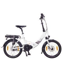 "Paris 20"" MAX N8R E-Bike, E-Plegable, Motor Central blanco"
