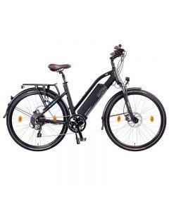 """Milano Plus Bicicleta eléctrica de Trekking, 250W, Batería 48V 14 Ah/16Ah • 672Wh/768Wh-Matte Black-26"""""""